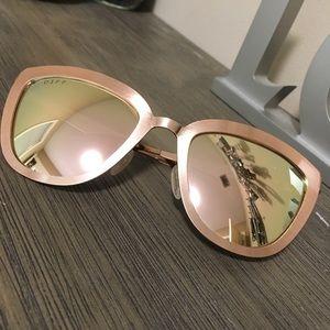 Brand New Rose Gold Diff Sunglasses